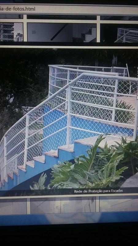 Redes de Proteção para Escada no Parque do Carmo - Proteção com Redes