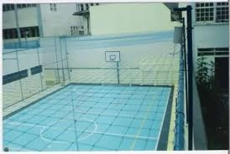 Tela de Proteção para Quadra Esportiva Preço no Jardim Jabaquara - Tela de Nylon para Quadra
