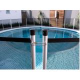cerca removível na piscina Morro Santa Teresinha
