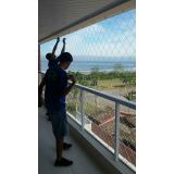 proteção com redes na Vila Esperança