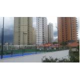rede de proteção para quadras poliesportivas no Jardim Guarapiranga
