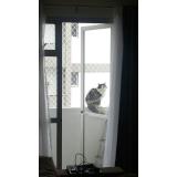 rede proteção janela gatos Vila Paulista